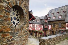 Burg Stahleck in Bacharach am Rhein. Stock Photos