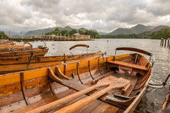 Tourist rowing boats Stock Images