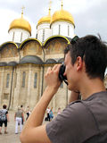Tourist in Russia Royalty Free Stock Photography