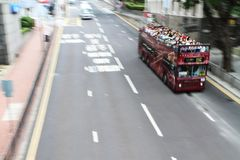 Tourist's bus. Royalty Free Stock Images