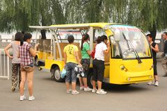 Tourist's car in China Stock Photography