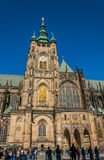 Tourist at Saint Vitus Cathedral Royalty Free Stock Images