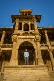 Tourist @ Sarkhej Roja Stockbilder