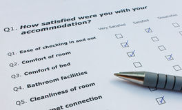Tourist satisfaction survey Stock Image