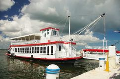Sea boat. A tourist sea boat in Cancun, Mexico Royalty Free Stock Images