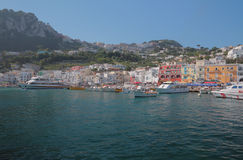 Tourist seaport. Capri, Italy Royalty Free Stock Images