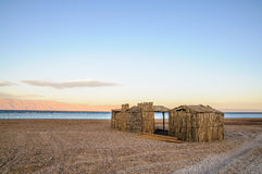Tourist shanty. On the beach of Red Sea Royalty Free Stock Images