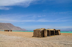 Tourist shanty. On the beach of Red Sea Royalty Free Stock Image