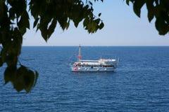 Tourist ship stock image