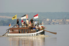 Tourist ship on Danube river Royalty Free Stock Photography