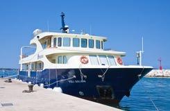 Tourist ship. Fazana, Croatia Royalty Free Stock Image