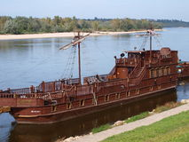 Tourist ship, Kazimierz Dolny, Poland. A tourist ship in Kazimierz Dolny in Poland Royalty Free Stock Images