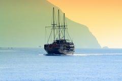 Tourist ship Month Athos Greece Stock Photos