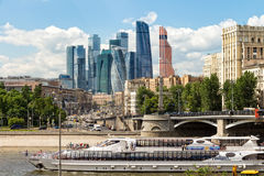 Tourist ship on the Moscow river Royalty Free Stock Images