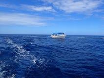 Tourist ship near Tamarin, Mauritius royalty free stock photos
