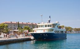 Tourist ship at the pier.  Brijuni. Croatia Royalty Free Stock Photo