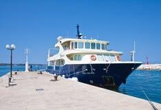 Tourist ship at the pier.Croatia Stock Image