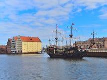 Tourist ship sailing Stock Photo