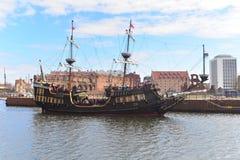 Tourist ship sailing Stock Images
