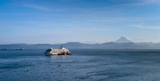Tourist ship visit to Kamchatka Stock Image
