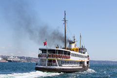 Tourist ships and water Golden Horn. Istanbul, Turkey Stock Images