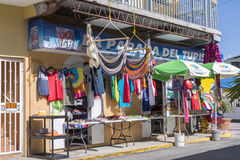 Tourist shop in Boqueron, Puerto Rico. BOQUERON, PUERTO RICO, USA - JANUARY 17, 2014: Tourist shop on street corner in Boqueron on west coast of Puerto Rico Stock Photos
