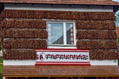 Tourist shop, named Paprikahaz in Tihany Stock Image