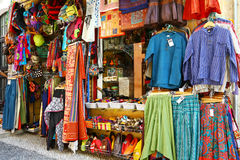 Tourist shop in old moorish district of Granada Royalty Free Stock Image