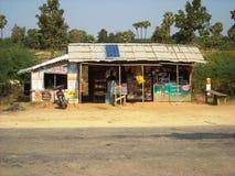 Tourist shop outside at burma stock image