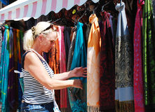 Tourist Shopping in Mostar Royalty Free Stock Photography