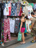 Tourist shoppping, Bangkok Stock Image