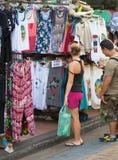 Tourist shoppping, Bangkok Stock Image