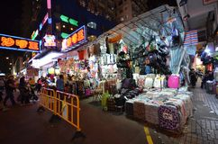 Tourist shops for bargain priced fashion and casual wear in Mong Royalty Free Stock Photo