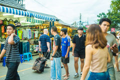 Tourist shops at Jatujak or Chatuchak Market stock photography