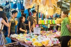 Tourist shops at Jatujak or Chatuchak Market stock images