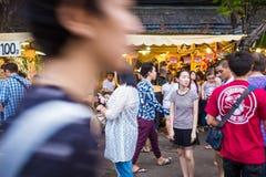 Tourist shops at Jatujak or Chatuchak Market stock photo