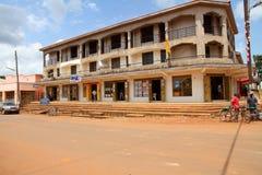 Tourist Shops in Masindi. MASINDI, UGANDA - September 30,2012. People shop at the main tourist shopping center in Masindi, Uganda on September 30, 2012 royalty free stock image
