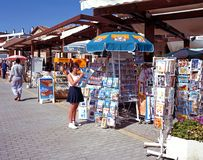 Tourist shops, Paphos. Royalty Free Stock Photography
