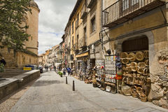 Tourist shops in Segovia, Spain Stock Images