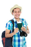 Tourist showing passport Royalty Free Stock Image