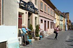 Tourist in Sibiu Royalty Free Stock Photos