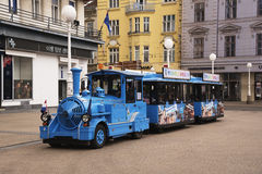 Tourist sightseeing train in Zagreb, Croatia Royalty Free Stock Image