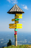 Tourist signpost Royalty Free Stock Image