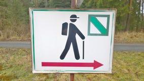 Tourist signposting, metal sign. South Bohemia. Czech Republic royalty free stock photos