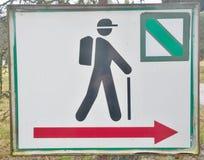 Tourist signposting, metal sign. South Bohemia. Czech Republic stock photos