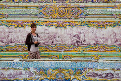Tourist in Sintra stock photography