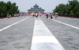Tourist site in China. Beijing Tiantan park from a low view,lots of visitor from around the world vist this park every day.Aug.13,2012 Royalty Free Stock Images