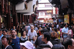 Tourist sites attract huge crowds of people Stock Photo