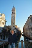 Tourist and sorroundings of St. Mark`s Square, Venice, Italy Royalty Free Stock Images