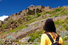 The tourist in South America Stock Photography